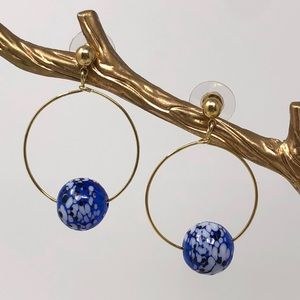 Wire Hoops With Blown Glass Balls